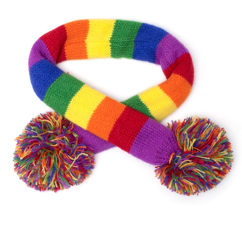 Scarf-Rainbow Stripe*