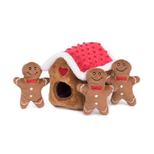 ZP-Holiday Burrows Gingerbread House  Brown