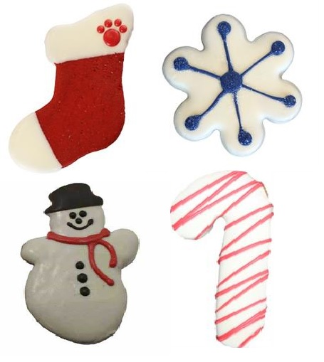 Bakery-Bag of 4 Winter/Holiday Cookies   4pk