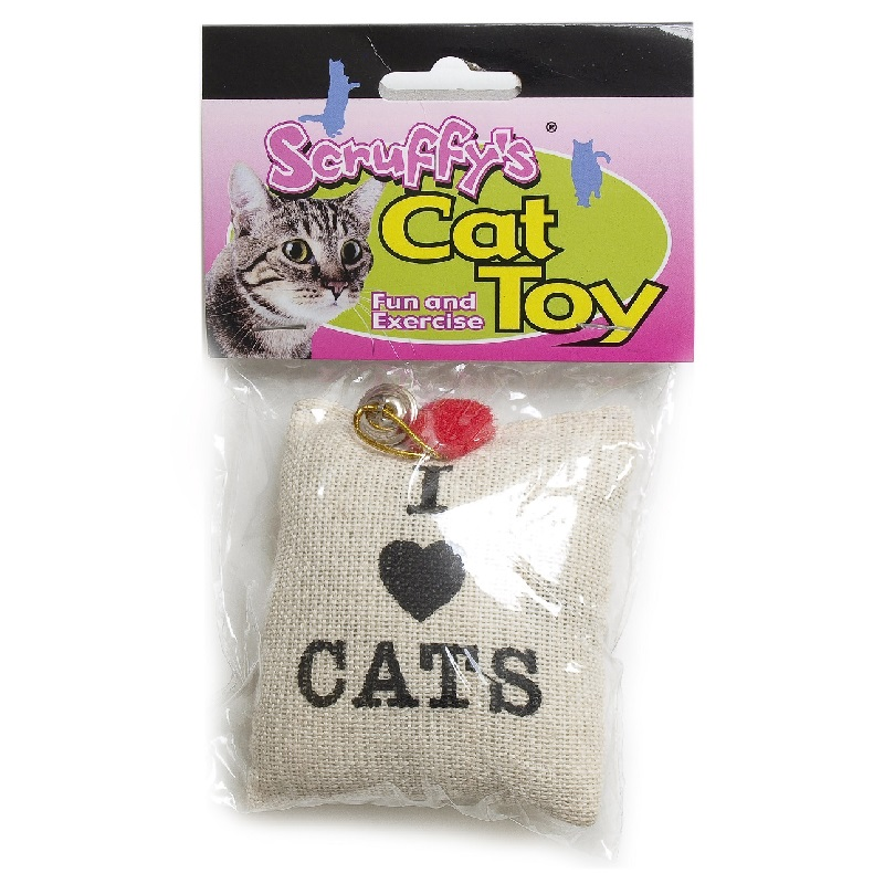 Cat Toys-Catnip Burlap Sack  Canvas