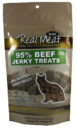 Real Meat Cat-Beef Jerky Treats   3oz