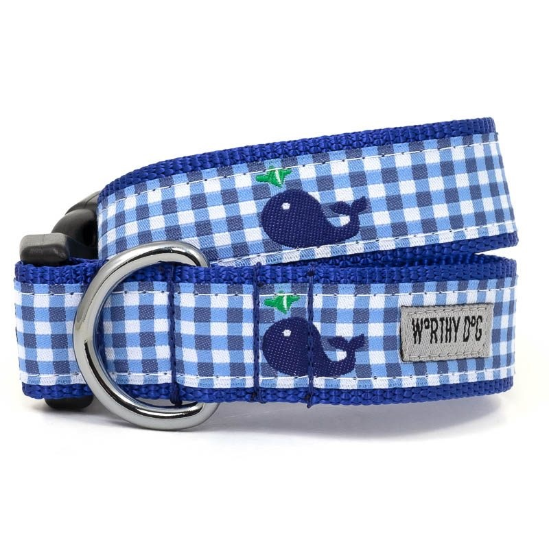 Collar-Gingham Whales