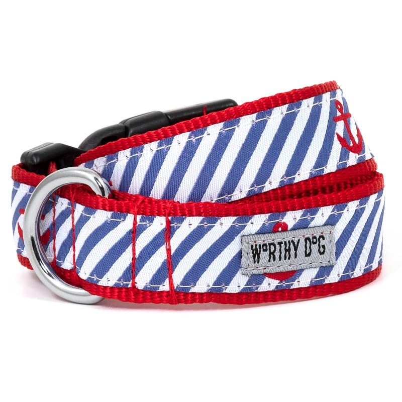 Collar-Navy Stripe Anchor