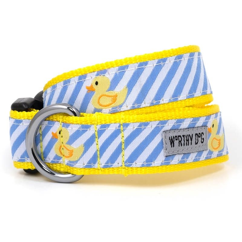 Collar-Lt.Blue Stripe Rubber Duck