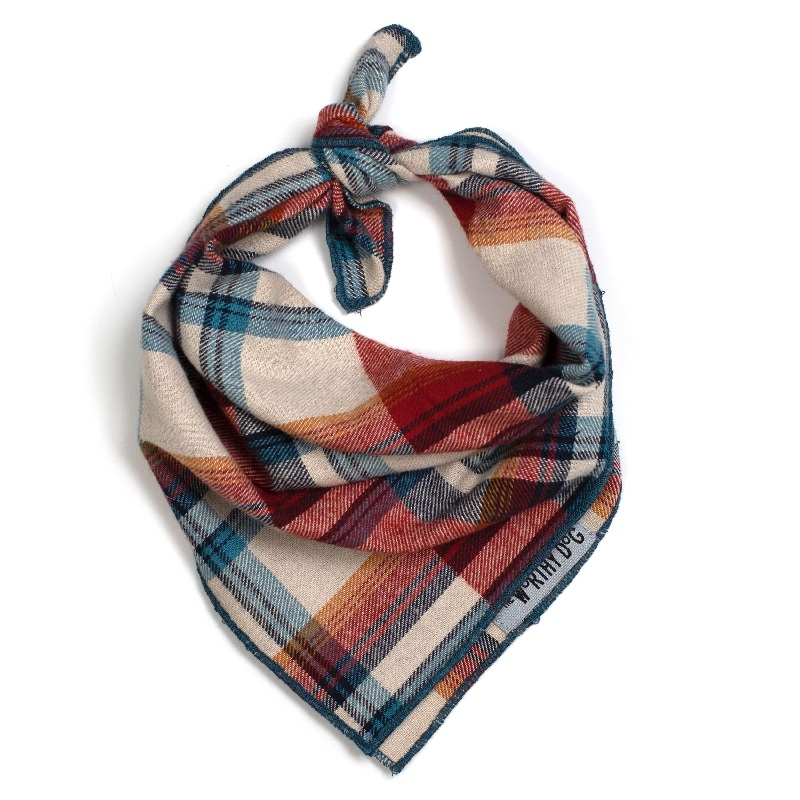 Bandana-Rust Plaid (Tie)