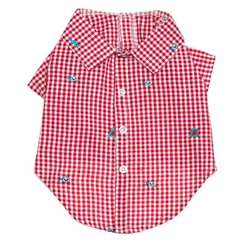 Shirt-Gingham Chomp*