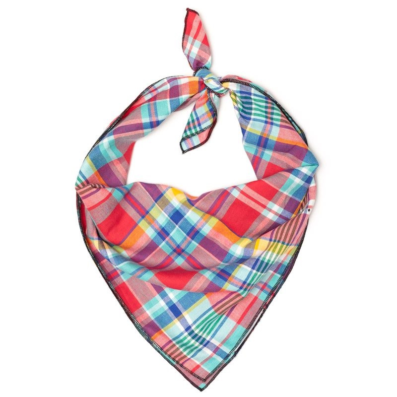 Bandana-Coral Multi Plaid (Tie)