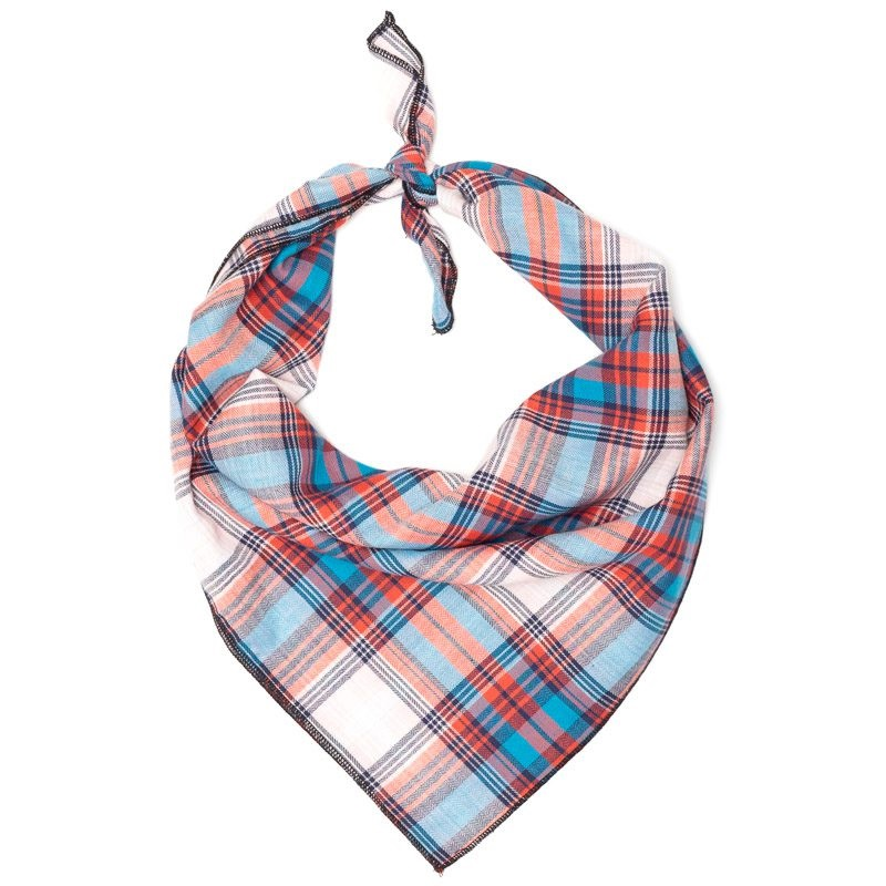 Bandana-Cornflower Blue/Red Plaid (Tie)