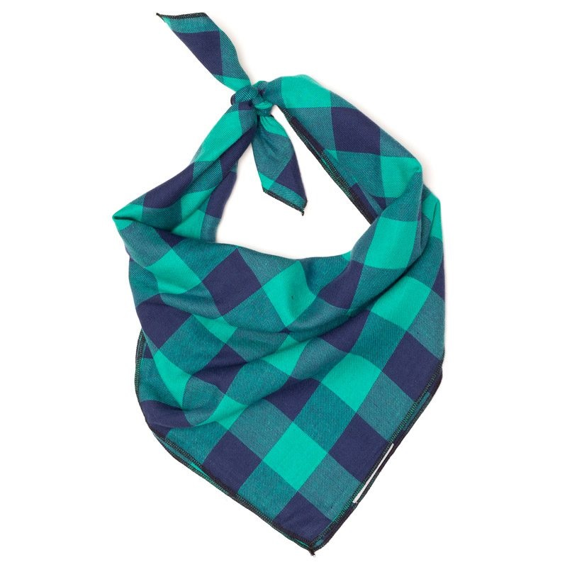 Bandana-Green/Navy Buffalo (Tie)
