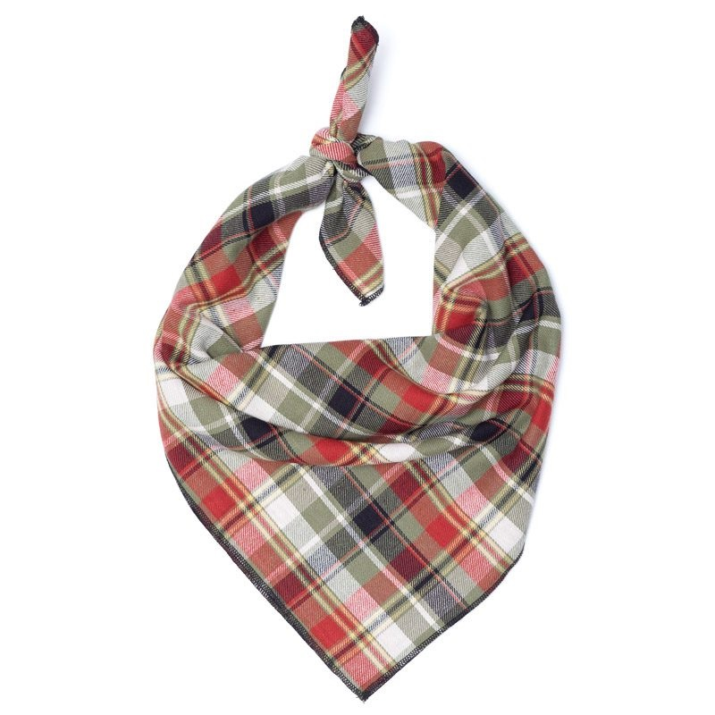 Bandana-Olive Multi Plaid (Tie)