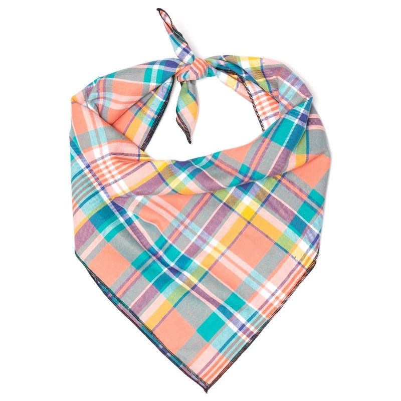 Bandana-Peach Multi Plaid (Tie)