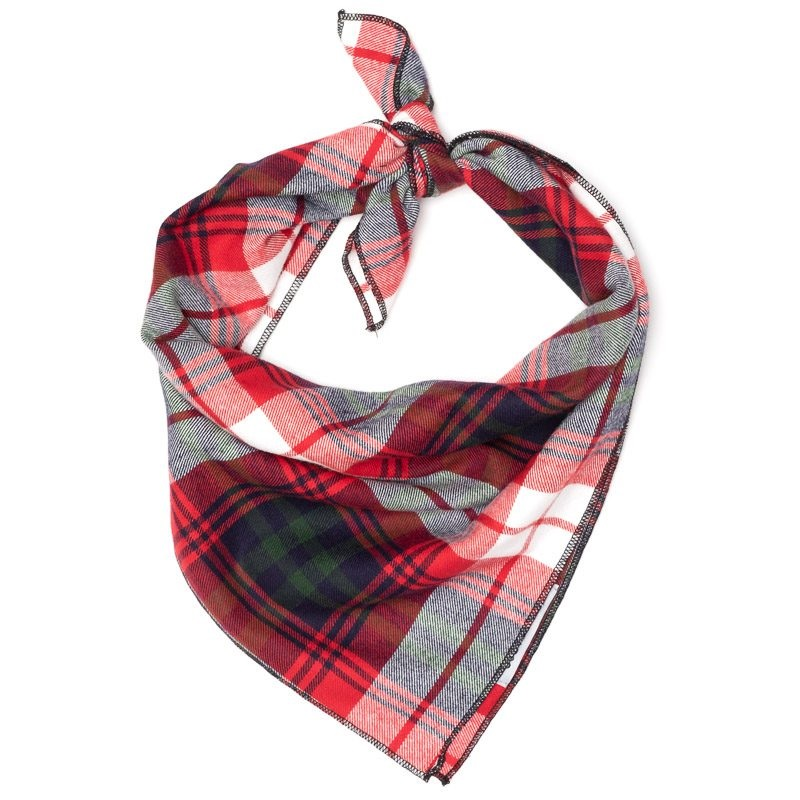Bandana-Red/Green/Navy Plaid (Tie)