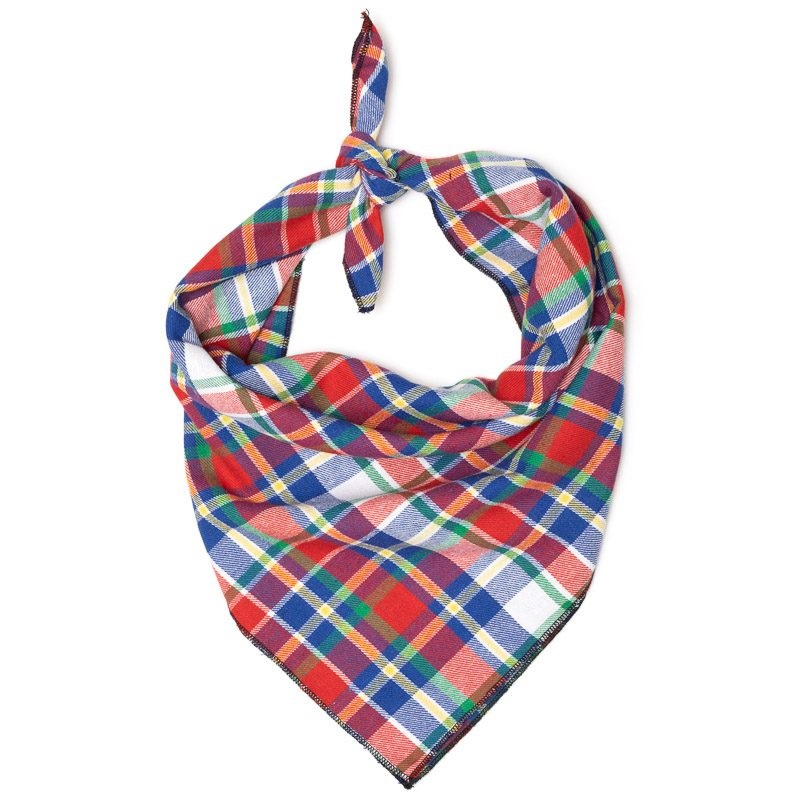 Bandana-Red/Hunter Blue Plaid (Tie)