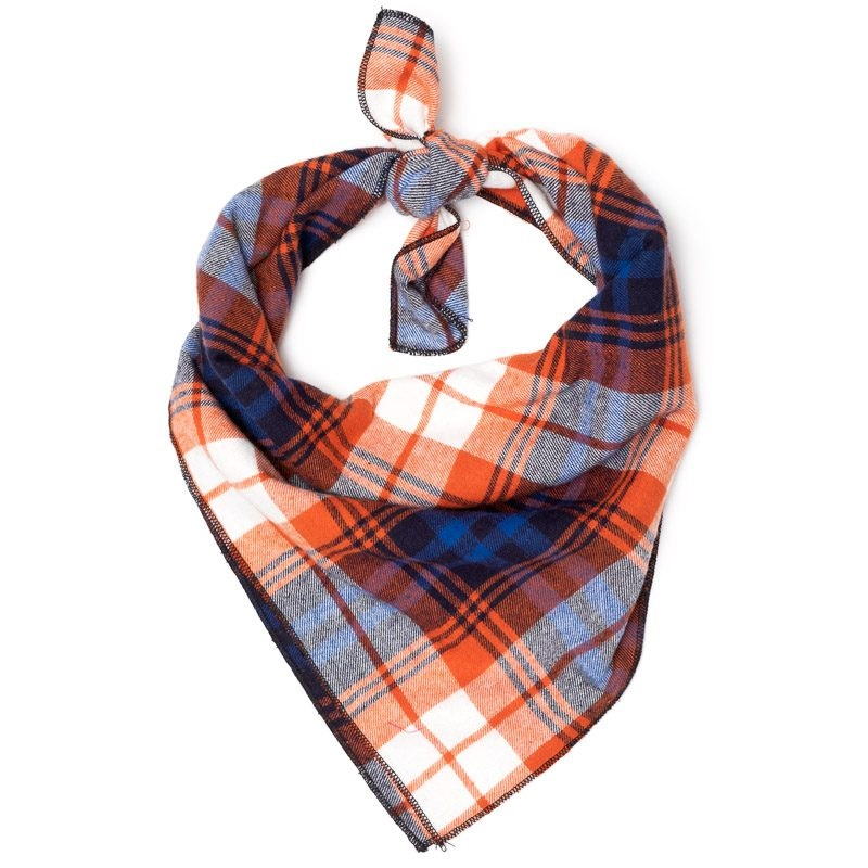 Bandana-Rust/Navy Plaid (Tie)