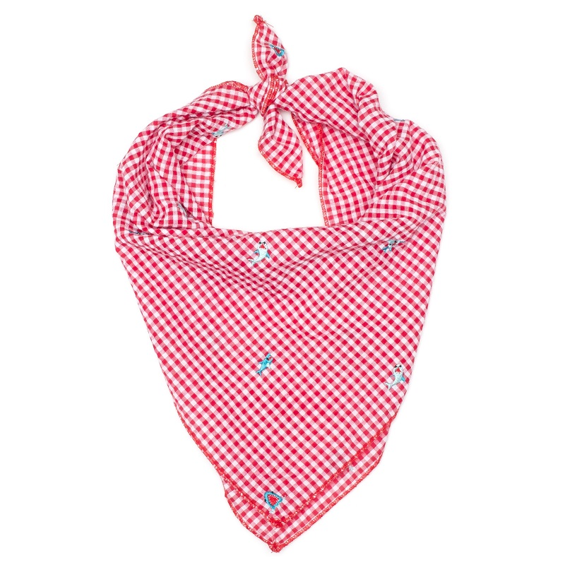 Bandana-Gingham Chomp Shark (Tie)*