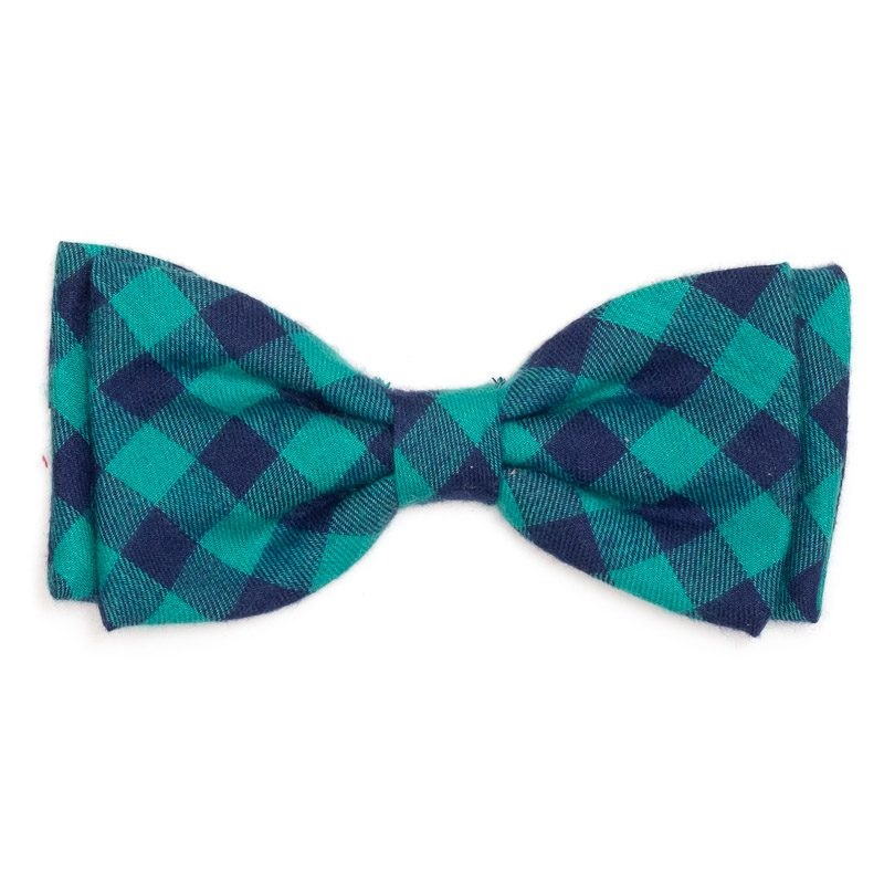 Bowtie-Green/Navy Buffalo Check