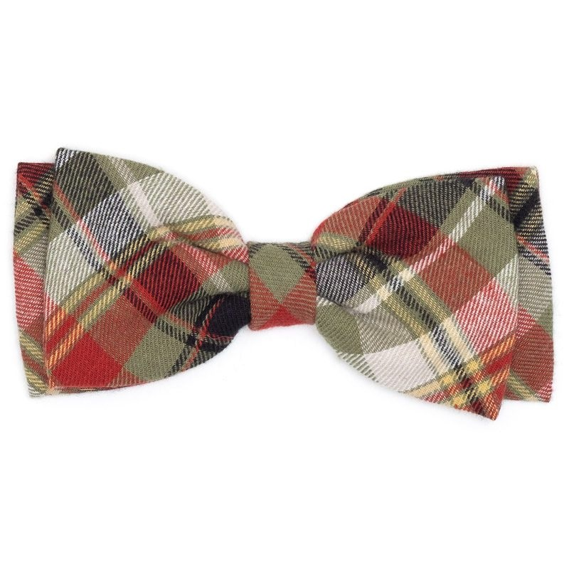 Bowtie-Olive Multi Plaid