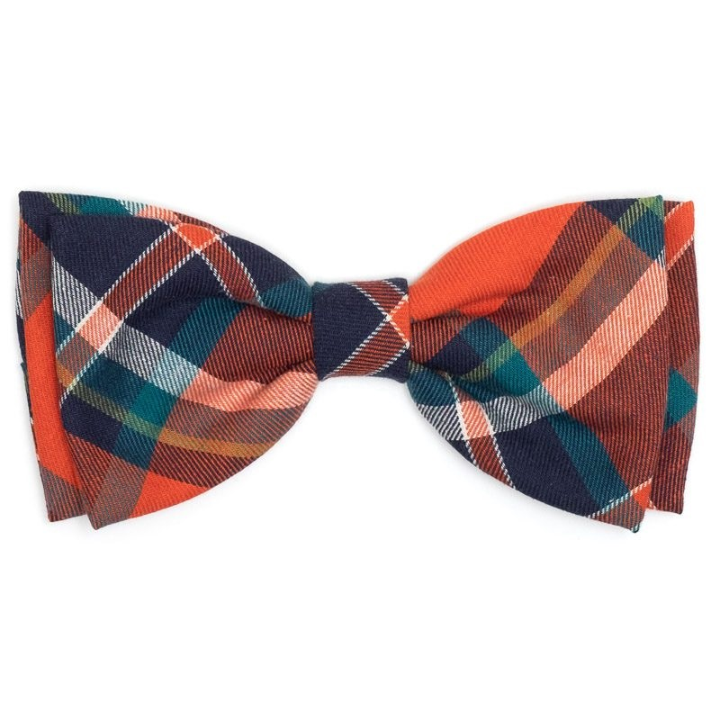 Bowtie-Orange/Navy Plaid