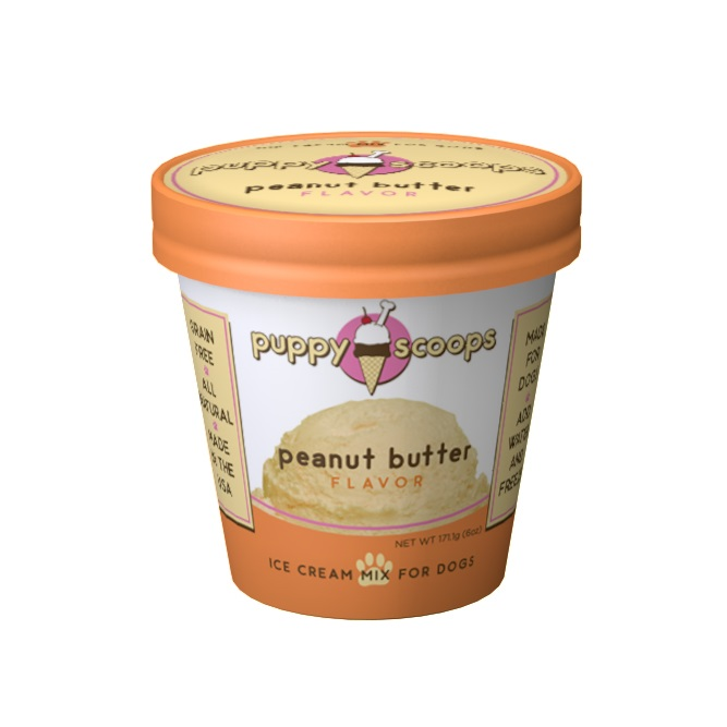 PC-Puppy Scoops Ice Cream PB  PB 6oz