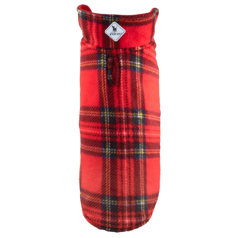 Fargo Fleece-Rev Red Tartan Plaid